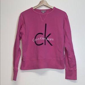 Calvin Klein Pink Pullover crewneck sweater jumper
